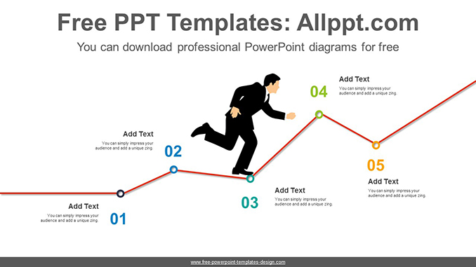 Businessman Rising Chart PowerPoint Diagram posting image