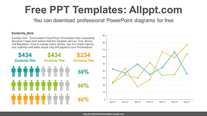 Icons Line chart PowerPoint Diagram posting image